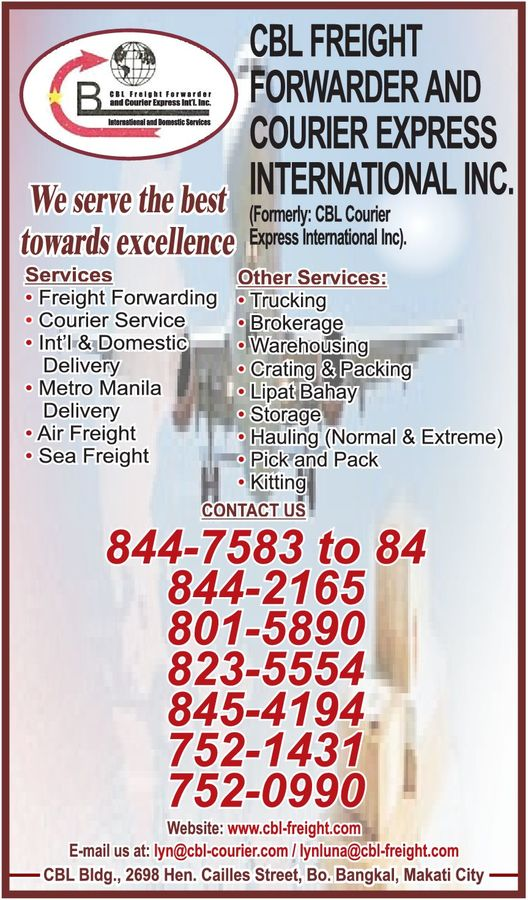 CBL FREIGHT FORWARDER in Paranaque City, Metro Manila - Yellow Pages PH