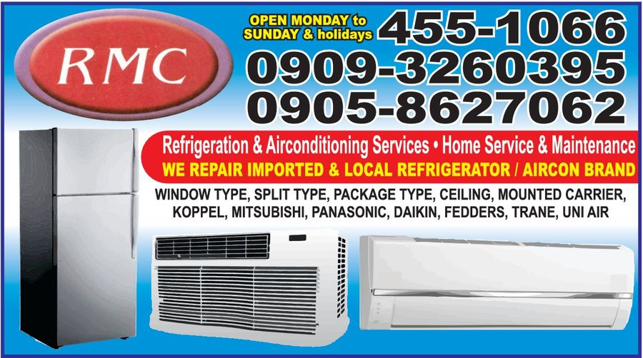 RMC BORS REFRIGERATION AND AIRCONDITIONING SERVICES in