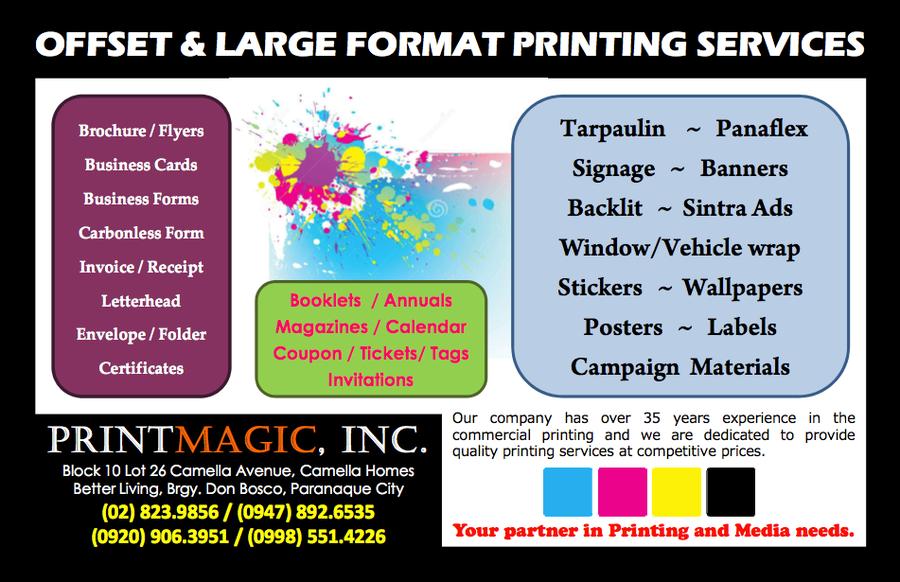 Printmagic printing services in paranaque city metro manila add photo stopboris Gallery